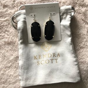 Kendra Scott Black/Gold Earrings - NWT!